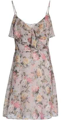 Bailey 44 Wrap-Effect Floral-Print Georgette Mini Dress