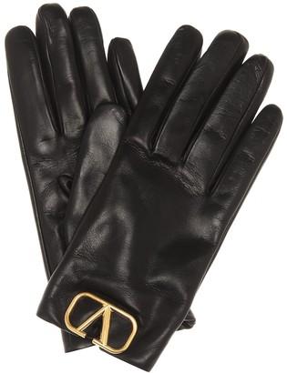 Valentino VLOGO leather gloves