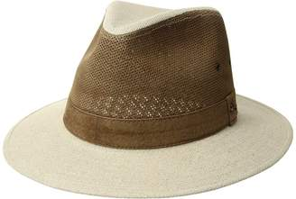 Tommy Bahama Linen and Perforated Leather Safari Caps