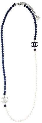 Chanel CC Faux Pearl & Bead Necklace