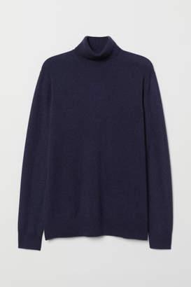 H&M Cashmere Turtleneck Sweater - Blue