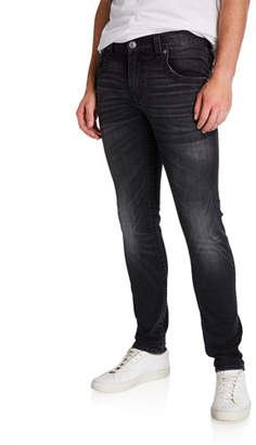 True Religion Men's Tony Black-Wash Skinny Jeans