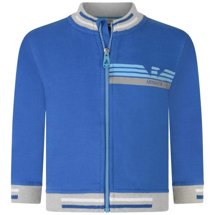 Armani JuniorBaby Boys Blue Zip Up Cardigan
