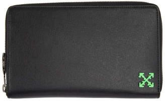 Off-White Black Zip Around Wallet