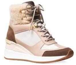 MICHAEL Michael Kors Liv Lamb Fur Sneaker Booties