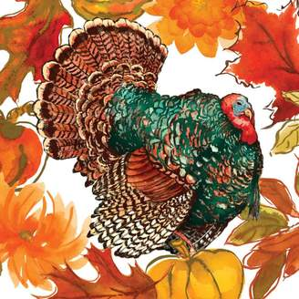 Paper Products Turkey Tom Cocktail Napkins, Set of 20