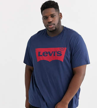 Levi's Big & Tall batwing logo t-shirt in navy
