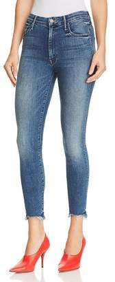Mother Looker High-Rise Ankle Chewed-Hem Skinny Jeans in Just Like the Ones We Used to Know