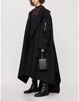 Yang Li Oversized asymmetric wool wrap coat