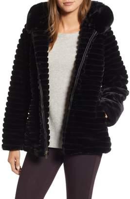 Gallery Faux Fur Hooded Jacket