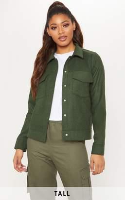 PrettyLittleThing Tall Green Pocket Detail Jacket