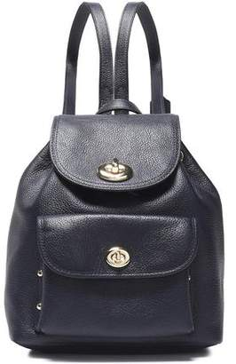 Coach Textured-Leather Backpack