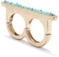 Rachel Roy Turquoise Bar Ring