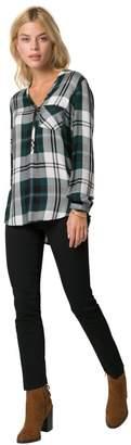 Le Château Women's Henley Check Shirt,M