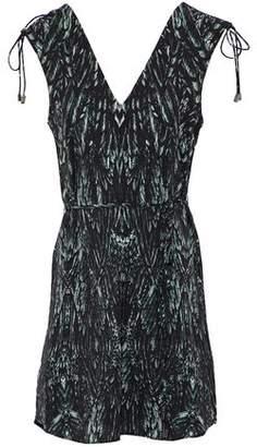 Haute Hippie Printed Crepe De Chine Mini Dress
