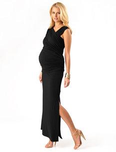 Apeainthepod Lavish By Heidi Klum Sleeveless Side Ruched Maternity Maxi Dress