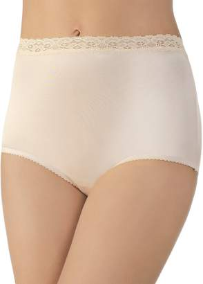 Vanity Fair Women's Perfectly Yours Nylon With Lace Brief Panty 13060