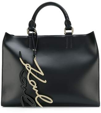 Karl Lagerfeld Signature shopper tote