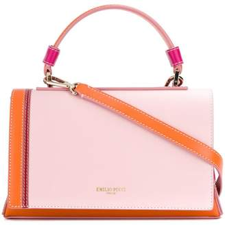 Emilio Pucci blockcolour flap tote bag