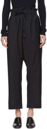 Studio Nicholson Navy Wool Drawstring Trousers