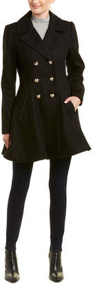 Laundry by Shelli Segal Double-Breasted Wool-Blend Coat