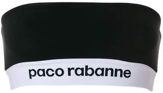 Paco Rabanne logo bustier top