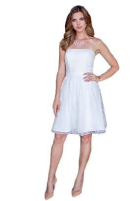 Love To Dress Love Dress Short Lace Strapless Bridesmaid Dress US