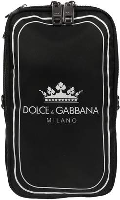 Dolce & Gabbana Crown Logo Print Shoulder Bag
