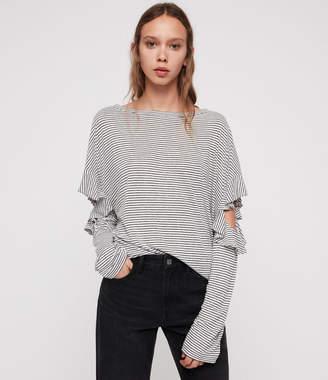AllSaints Favro Stripe T-Shirts