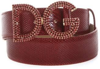 Dolce & Gabbana Millennials Ruby Leather Belt