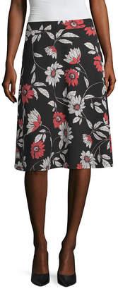 Liz Claiborne Womens Midi Full Skirt