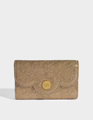 See by Chloe Polina Wallet in Sandy Brown Metallic Cowhide Leather and Cowhide Leather