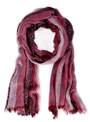 Sole Society Lightweight Tribal Knit Scarf