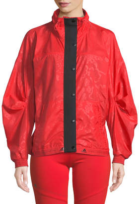 adidas by Stella McCartney Run Wind-Resistant Zip-Front Performance Jacket