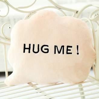 "WDA Cute Cloud Shape Pillows Cushion Nap with Letter ""HUG ME"" Stuffed Toys"