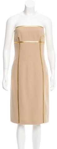 MICHAEL Michael KorsMichael Kors Collection Wool Strapless Dress