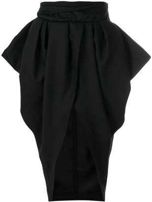 Jacquemus structured drape skirt