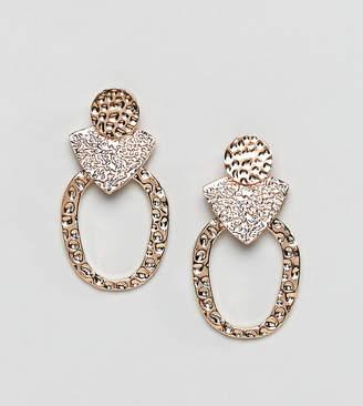 Reclaimed Vintage Inspired Hammered Earrings