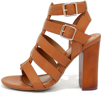 Great Adventure Tan Caged Heels $34 thestylecure.com