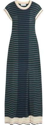 Sonia Rykiel Striped Cotton-Blend Maxi Dress