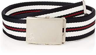 Benetton Men's Belt, (White 1), (Size: Small)