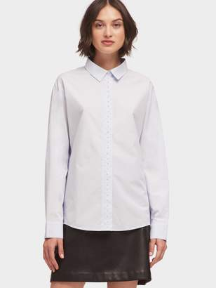 DKNY Button-Up Shirt With Pearl Detail