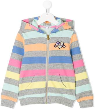 Little Marc Jacobs striped zip-up hoodie