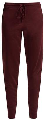 Ernest Leoty - Bertille Ultrafine Merino Wool Track Pants - Womens - Burgundy