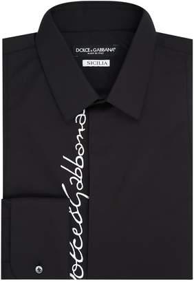 Dolce & Gabbana Logo Embroidered Shirt