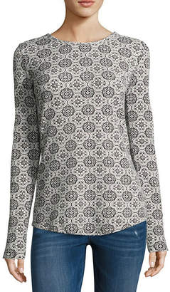 Liz Claiborne Long Sleeve Thermal Tee - Tall