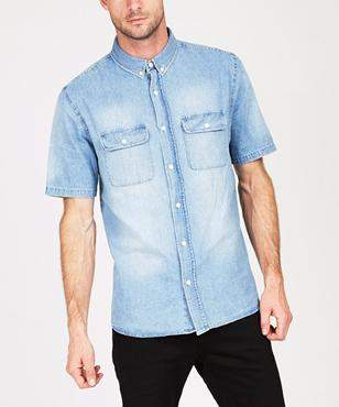 Insight Lo Fi Short Sleeve Shirt Worn Indigo