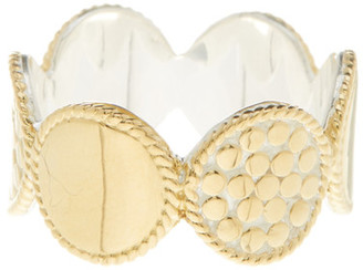 Anna Beck 18K Gold Plated Sterling Silver Multi-Disk Ring $200 thestylecure.com