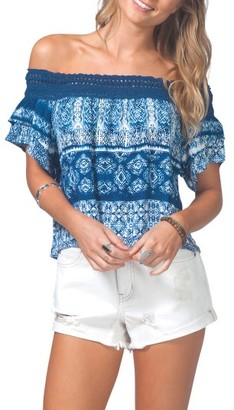 Women's Rip Curl Dream On Off The Shoulder Top $46 thestylecure.com