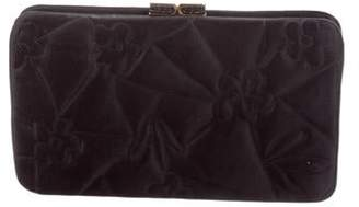 Judith Leiber Quilted Satin Clutch Black Quilted Satin Clutch